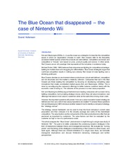 Article 4- Blue Ocean Strategy