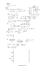 Fluid Mechanics HW3