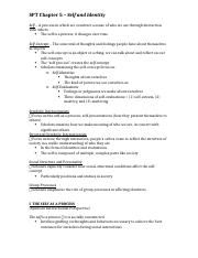 SPT Chapter 5 Notes