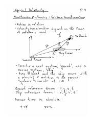 Special relativity review
