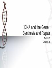 1107 Ch 15 DNA Replication and Synthesis.pptx