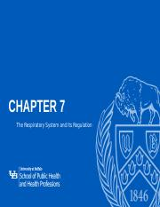 Respiratory System and its regulation - Chapter 7 .pptx