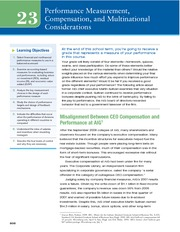 Chapter 23 Performance Measurement, Compensation, and Multinational Considerations