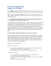 Lesson 6 Assignment #4 Chapter 8 Case Study