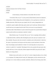 Essay 1 Critical_analysis_of_emily_dickinson 1.docx