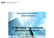 FoBA_FS2015_10_Organizational Structure and Culture