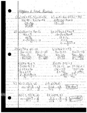 Algebra 2 Final Review Answers