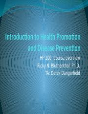 Introduction to Health Promotion and Disease Prevention - lecture 1- 2016.pptx