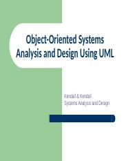 Chapter 10 Chapter 10 Object Oriented Systems Analysis And Design Using Uml Learning Objectives Understand What Object Oriented Systems Analysis And Course Hero