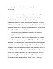 Workplace Problems Paper