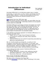 Introduction to Individual Differences.docx