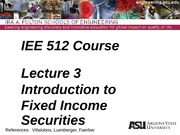 Lecure 3dm Intro to Fixed Income Securities(1)