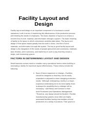 Facility Layout and Design Notes.docx