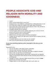 People associate God and religion with morality and goodness