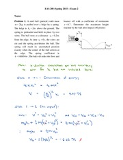 eas208 Exam 2 Solutions