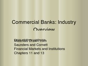 Commercial Banks-Industry Overview- From SC3-Chapters 11&13 part1
