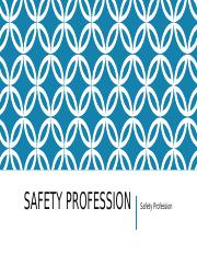 Safety Profession