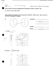 Functions and Factoring Homework Review