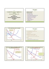 Lecture 7  Mkt Structures Part 2