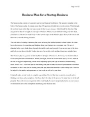Business Plan example A-1