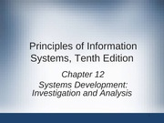 Principles of Information Systems chapter 12