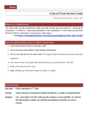Career Plan Instructions