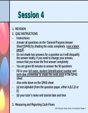 Session 4 - Measuring and interpreting cash flows - Chapter 5
