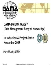 Data Management Body of Knowledge