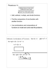 Composite functions notes