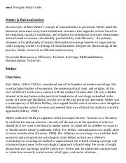 Weber & Rationalization Research Paper Starter - eNotes.pdf