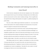 EDUC 571 Building Communities and Analyzing Assets Part 2