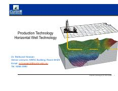 PT Lecture 7 - Horizontal Well Technology
