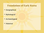 H103.Early Korea lecture slide