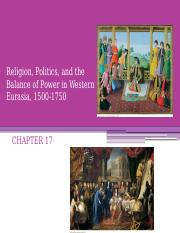 108 Religion, Politics, and the Balance of Power in Western Eurasia (chapter 17) no audio