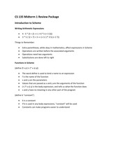 CS 135 Midterm 1 Package