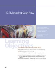 Chapter 12 Managing Cash Flow