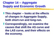 ECN 203 (14), Aggregate Supply Changes and the Economy
