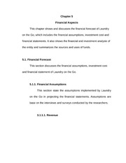 Chapter 5 - Financial Aspects