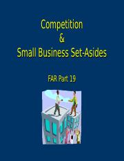 1 Competition & Small Business Set-Asides