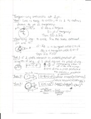 Tangent Line Theorems Study Sheet