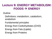 Lecture 9 BOL  Energy Metabolism- bspace