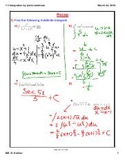 7.3 Integration by parts
