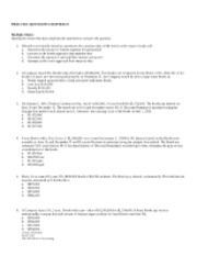 ACCT 2101 CHAPTER 10 practice questions