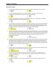 Chapter 20 - Medicine - Chapter 20 Medicine MULTIPLE CHOICE