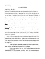 Terry v Ohio Case Brief.docx