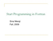 (3) Introduction to Fortran (Sina)