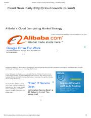 Alibaba's Cloud Computing Market Strategy - Cloud News Daily