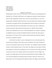 The Lottery Essay for Literature