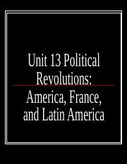 Unit 13 political revolutions