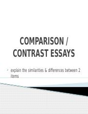 COMPARISON&CONTRAST ESSAYS